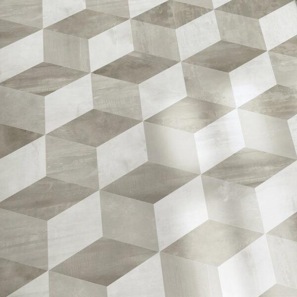 forma taupe patinato hexagono decor